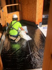 Installation of the waterproofing